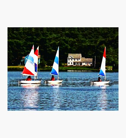 Striped Sails Photographic Print