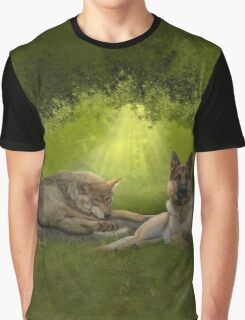 Cousins in the Evening Forest Graphic T-Shirt
