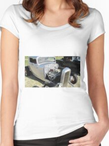 'GETTING DOWN TO THE NITTY GRITTY!' V8 Hot Rod Club, Kingscliff N.S.W.  Women's Fitted Scoop T-Shirt