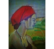 Woman with red headband  Photographic Print