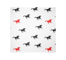 Galloping Horse - Black Red Scarf