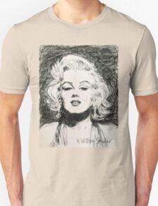 Marilyn, Black and White Unisex T-Shirt