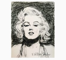 Marilyn, Black and White Unisex T-Shirt