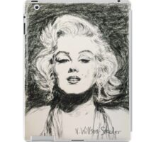Marilyn, Black and White iPad Case/Skin