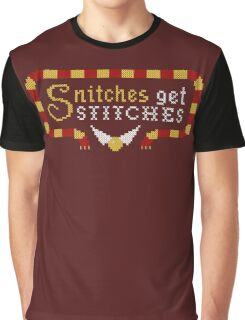 Snitches Get Stitches Graphic T-Shirt