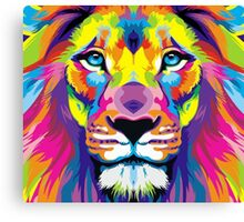 Painted Lion Canvas Print