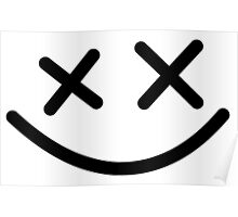 Cross Smiley face Poster