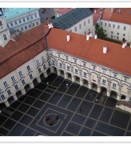 A Square in Vilnius Sticker