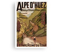 Vintage French sponsored Swiss Alps sport bicycle tour advert Canvas Print