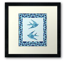 Blue Swallows Framed Print
