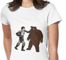 Bear Punch Womens Fitted T-Shirt