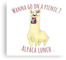 Alpaca picnic Canvas Print