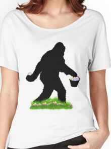 Gone Easter Squatchin with Pastel Background Women's Relaxed Fit T-Shirt