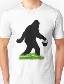 Gone Easter Squatchin with Pastel Background Unisex T-Shirt
