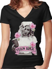 Marina and the Diamonds Teen Idle Women's Fitted V-Neck T-Shirt