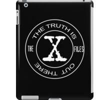 The X-Files the truth is out there (in white) iPad Case/Skin