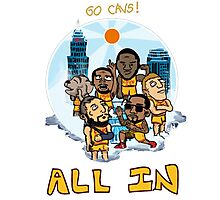 Go Cavs team Photographic Print