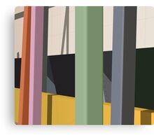 Coloured poles Canvas Print