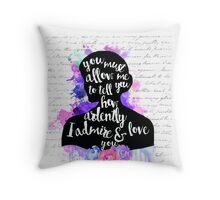 Pride and Prejudice | Watercolor Design Throw Pillow