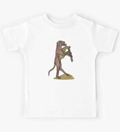Catpipes / Dog playing cat bagpipes Kids Tee