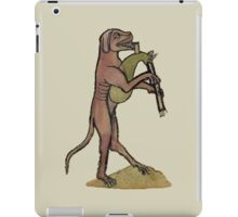 Catpipes / Dog playing cat bagpipes iPad Case/Skin