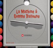 La Machine à Gomme Balloune Sticker