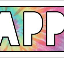 kappa tie dye block Sticker
