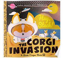 Corgi Invasion - Oregon Beach Day Poster