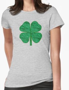 glitter shamrock Womens Fitted T-Shirt