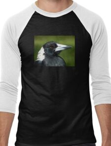 Stripey the Magpie Men's Baseball ¾ T-Shirt