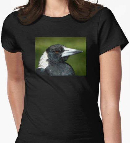 Stripey the Magpie Womens Fitted T-Shirt