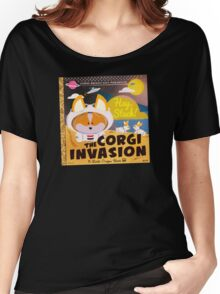 Corgi Invasion - Oregon Beach Day Women's Relaxed Fit T-Shirt