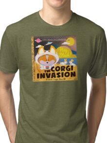 Corgi Invasion - Oregon Beach Day Tri-blend T-Shirt