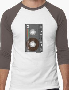 Commodore 64 Cassette Tape Men's Baseball ¾ T-Shirt