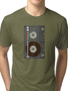 Commodore 64 Cassette Tape Tri-blend T-Shirt