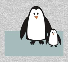 Cute Mom & Baby Penguin One Piece - Long Sleeve