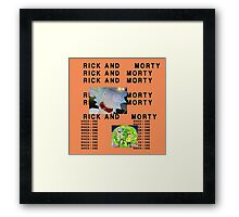 Rick and Morty The Life of Pablo (Less Graphic) Framed Print