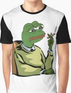 CASUAL DRESSED PEPE THE FROG MEME (RARE) Graphic T-Shirt