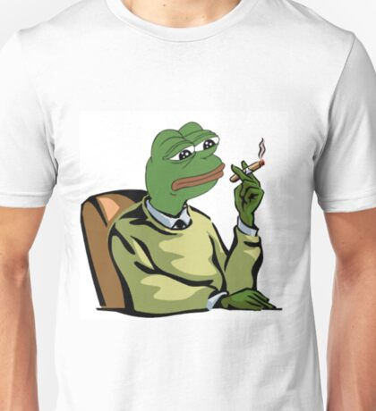 CASUAL DRESSED PEPE THE FROG MEME (RARE) Unisex T-Shirt