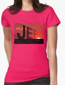Sunset in America Womens Fitted T-Shirt