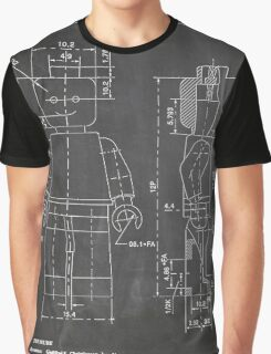 LEGO Minifigure US Patent Art Mini Figure blackboard Graphic T-Shirt