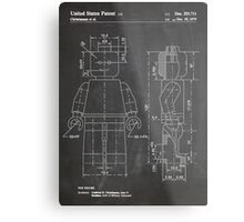 LEGO Minifigure US Patent Art Mini Figure blackboard Metal Print