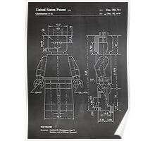LEGO Minifigure US Patent Art Mini Figure blackboard Poster