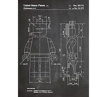 LEGO Minifigure US Patent Art Mini Figure blackboard Photographic Print