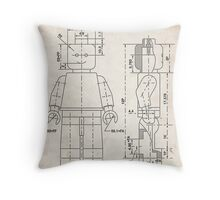 Lego Minifigure US Patent Art Throw Pillow