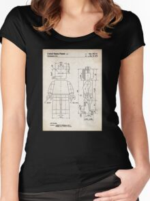 Lego Minifigure US Patent Art Women's Fitted Scoop T-Shirt