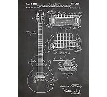 Gibson Les Paul  guitar us patent art 1955 blackboard Photographic Print