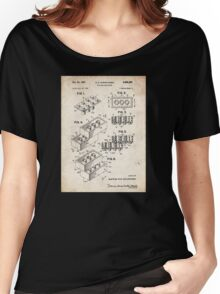 Lego Toy Blocks US Patent Art Women's Relaxed Fit T-Shirt