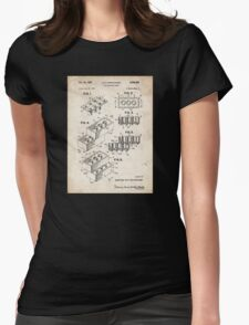 Lego Toy Blocks US Patent Art Womens Fitted T-Shirt