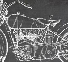Harley-Davidson Motorcycle US Patent Art 1928 blackboard Sticker